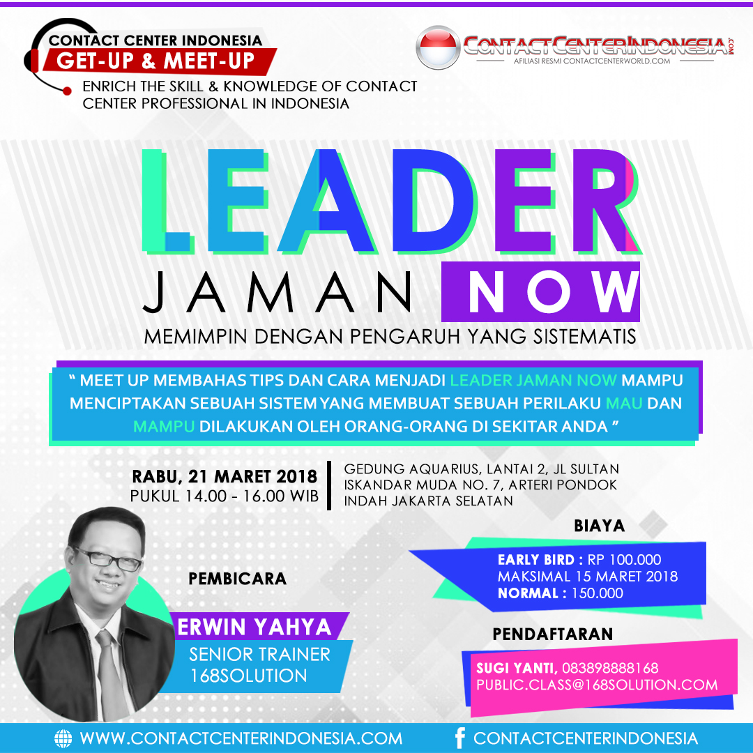 "Get-Up & Meet-Up ""Leader Jaman Now"" 21 Maret 2018 – Modul"